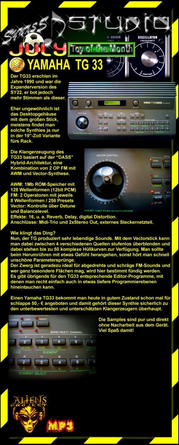 synthesizer tg33