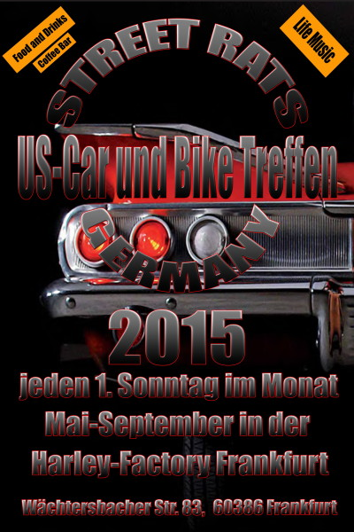 Streetrats plakat2015 us car