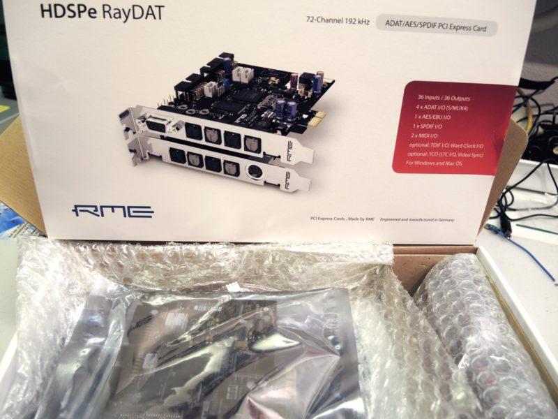 RME HDSPe RayDAT